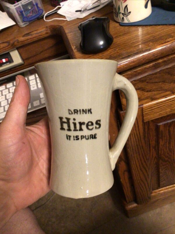 "6"" Mug Stoneware Hires Drink Its Pure Advertising Root Beer"