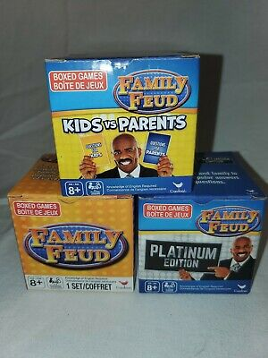 Family Trivia Games (Family Feud Trivia Game Lot: 3 Box Sets Platinum Edition Kids vs Parents TV)