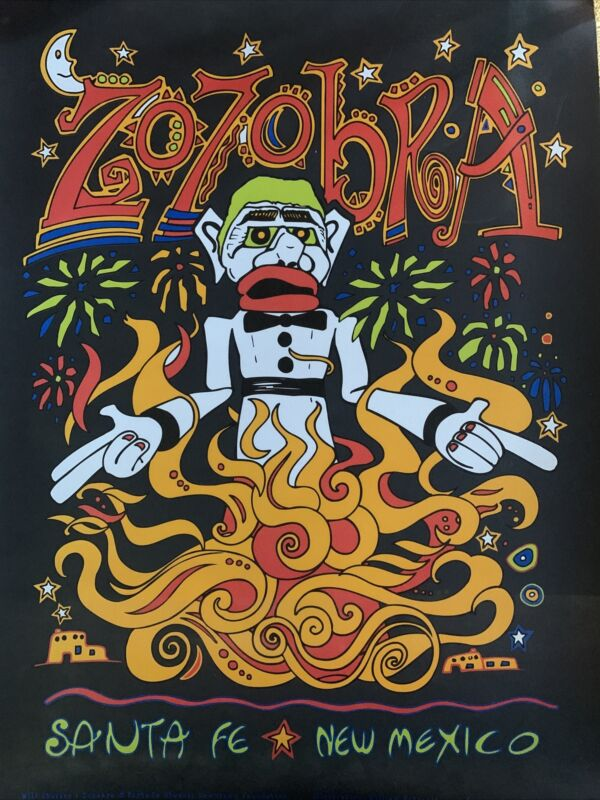 New Rare Zozobra poster Santa Fe New Mexico
