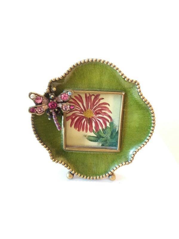 Jay Strongwater Swarovski Enameled Pink Dragonfly Mini Photo Frame New