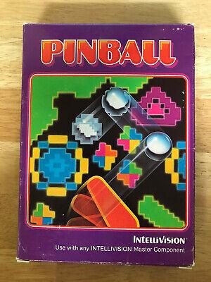 Mattel Intellivision Video Game PINBALL-CIB