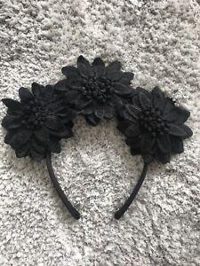Black flower lace fascinator headband  13a8a06f66e
