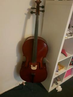 4/4 Size Cello Gliga III Outfit Nitro Antique Finish