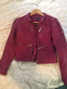 Women's Leather Jacket - BEBE Size Small