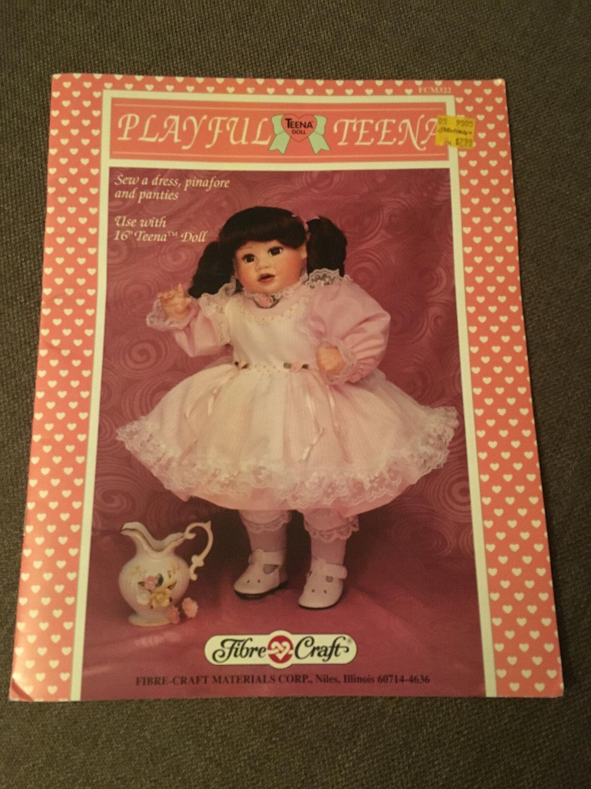Fall Formal Dress for Barbie Doll Fibre Craft 269 Crochet PATTERN//INSTRUCTIONS