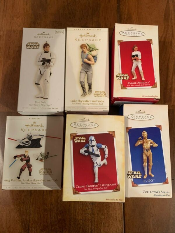 Hallmark Keepsake Star Wars Ornaments Lot Of 17