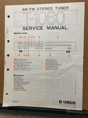 Original Yamaha Service Manual for the T-1060 Tuner Repair