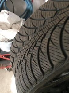 Goodyear ultra ice snow tires om rims