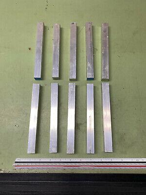 34 Aluminum Square Bars 10 Pcs