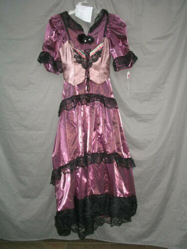 Victorian Dress Womens Saloon Girl Edwardian Costume Civil War Western