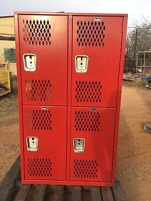 4 Door Two Tier Heavy Duty Football Lockers Gym School Locker 18 In. Depth