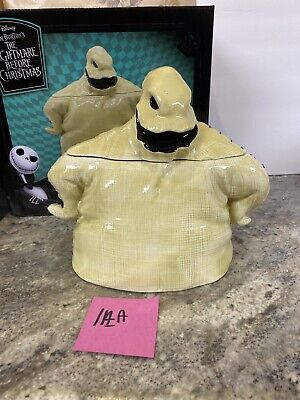 Nightmare Before Christmas OOGIE BOOGIE Ghost CERAMIC COOKIE JAR Halloween (1aa)