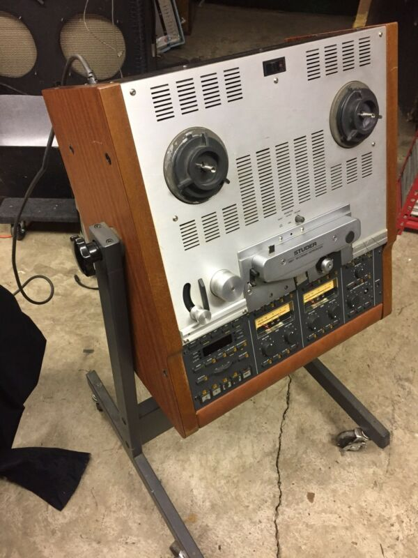 "Studer A807 2-track 1/4"" 3-speed reel-to-reel recorder 3.75/7.5/15 IPS w/manual"
