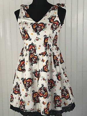 of Life Pinup Hot Topic Size Medium Skulls Day of the Dead (Halloween Day Dress)