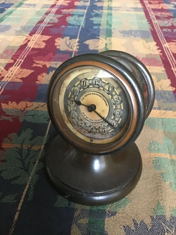 The Fafnir Bearing Company Antique Bronze Clock New Britain Conn.