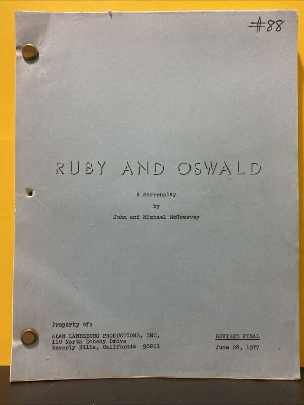 ruby and oswald a screenplay john and michael mcgreevey Alan landsburg productio
