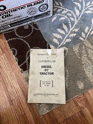 Caterpillar D7 Tractor Operators Instructions Manual 10481-3
