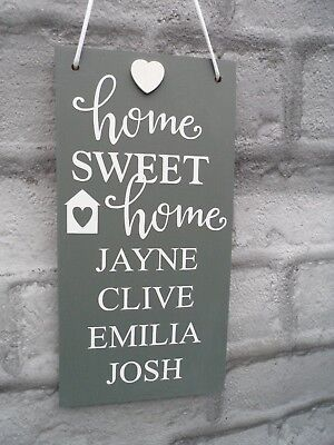 Personalised Plaque New House Housewarming Home Sweet Gift Sign Family Names