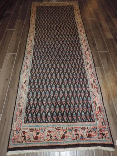 3x9ft. Vintage Hamadan Wool Runner