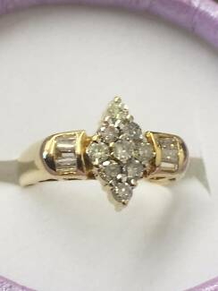 14ct Yellow Gold and Diamond Dress Ring  0.70 ct total with Valo Cessnock Cessnock Area Preview