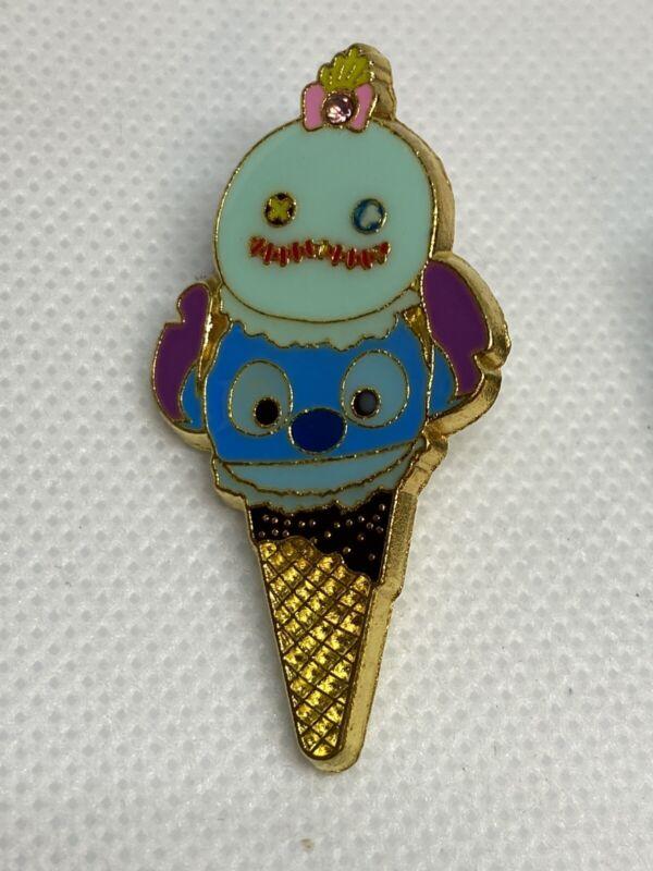 Disney Trading Pin - Stitch and Scrump Tsum Tsum Ice Cream Cone