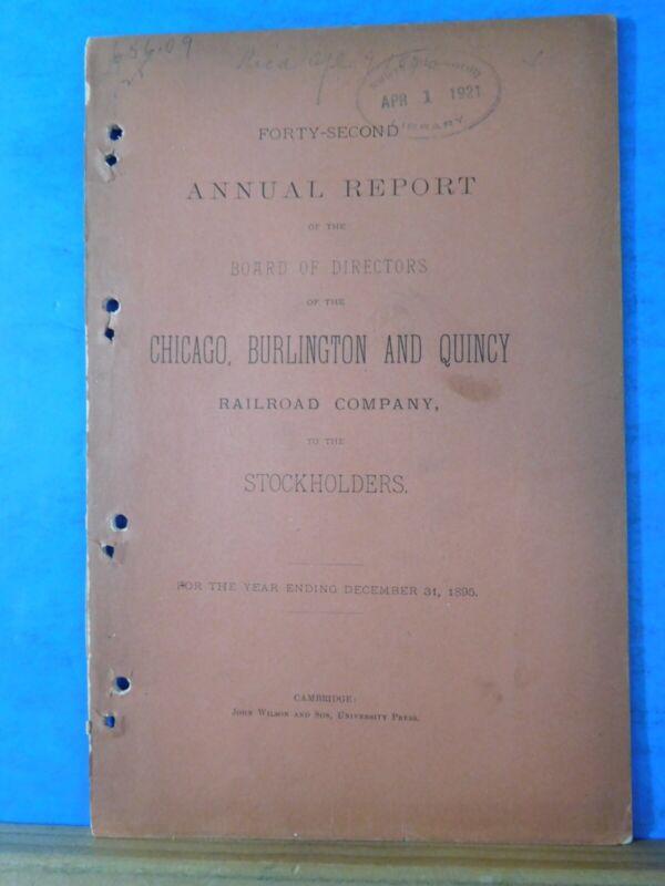 Chicago, Burlington, & Quincy Railroad Company Annual Report  1895