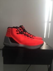 Stephen Curry 3 zero orange men's size 12