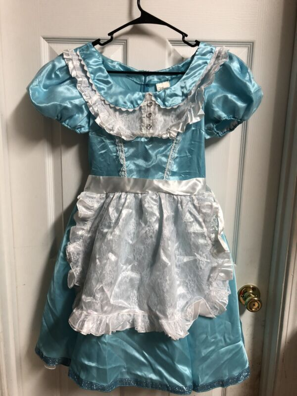 Disney store Adult Costume Alice In Wonderland Size Small Euc HTF