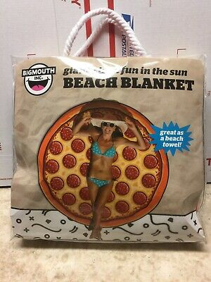 Big Mouth Pizza (Big Mouth Giant 5' Pizza Blanket Large Beach Novelty Holiday Swim Travel)