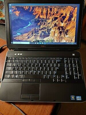 Dell Latitude E5530, i5-3320M 2.60 GHz 8GB 200 SSD w/Win 10 Pro, & power supply