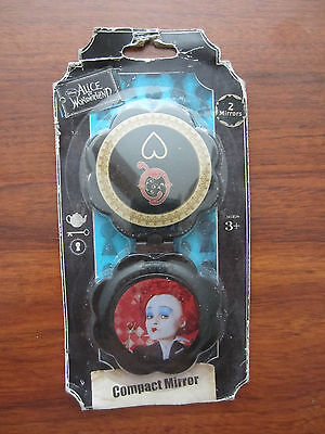 DISNEY  ALICE IN WONDERLAND COMPACT MIRROR THE RED QUEEN FROM HOT TOPIC