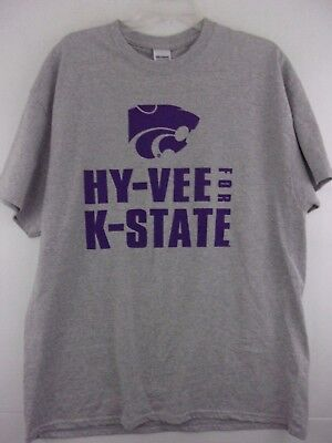 Hy Vee For K State Just Push Play Mens Xl T Shirt Kansas State Wildcats