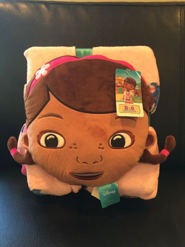 Doc McStuffins Pillow and Fleece Throw Blanket New