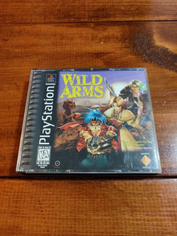 Playstation 1 PS1 WILD ARMS Case Only - NO GAME