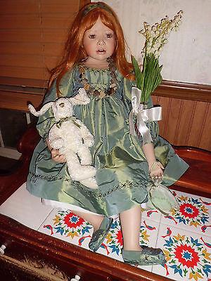 "Christine Orange 30"" Lily porcelain doll w/coa 130/1500 elite collection"