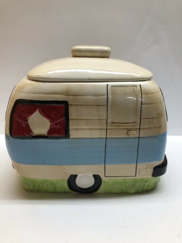3R Studios Happy Camper Camper Cookie Jar Used Excellent Condition