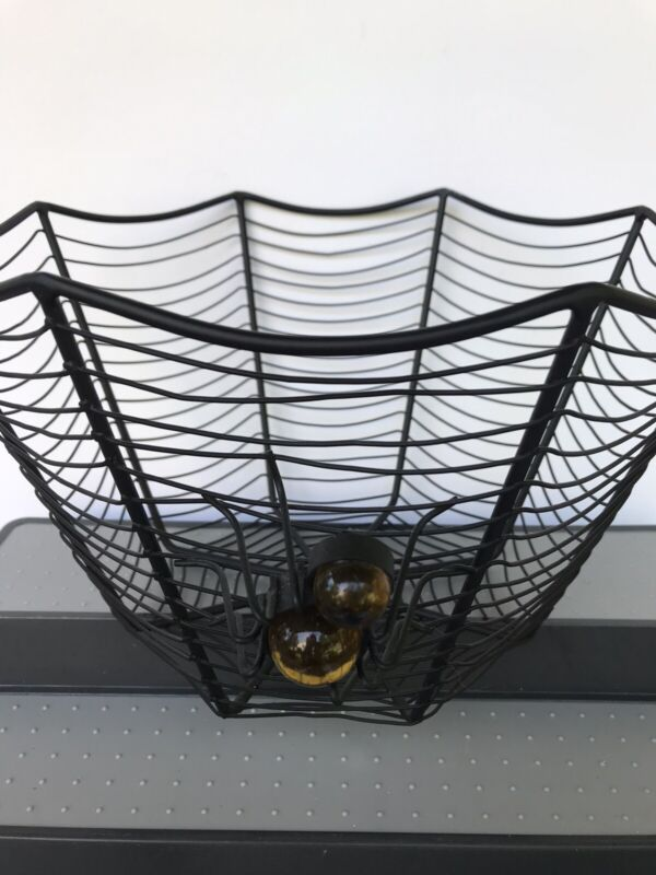 Halloween Spider Web Metal Bowl