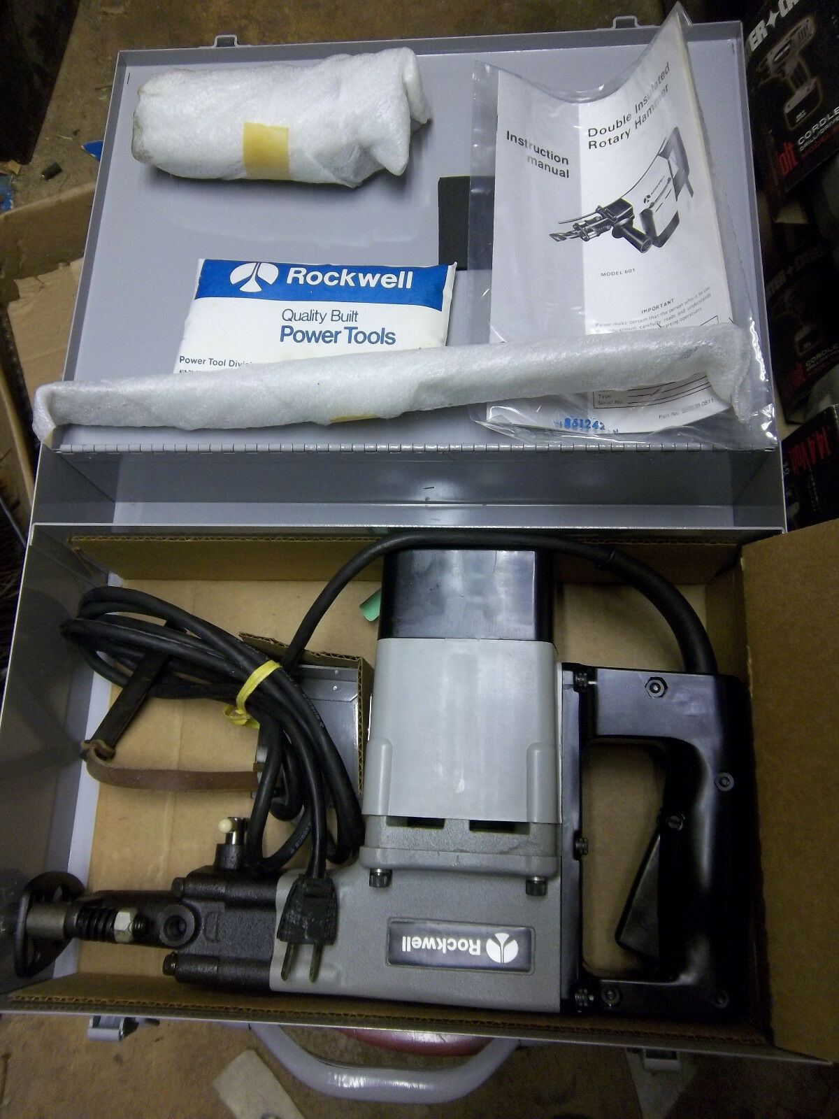 NOS USA Rockwell / Porter Cable 601 Rotary Hammer Drill, 1-1
