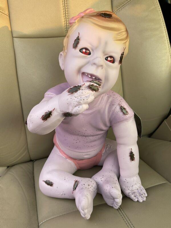 POSSESSED ZOMBIE BABY HALLOWEEN PROP DISPLAY FIGURE RARE HTF