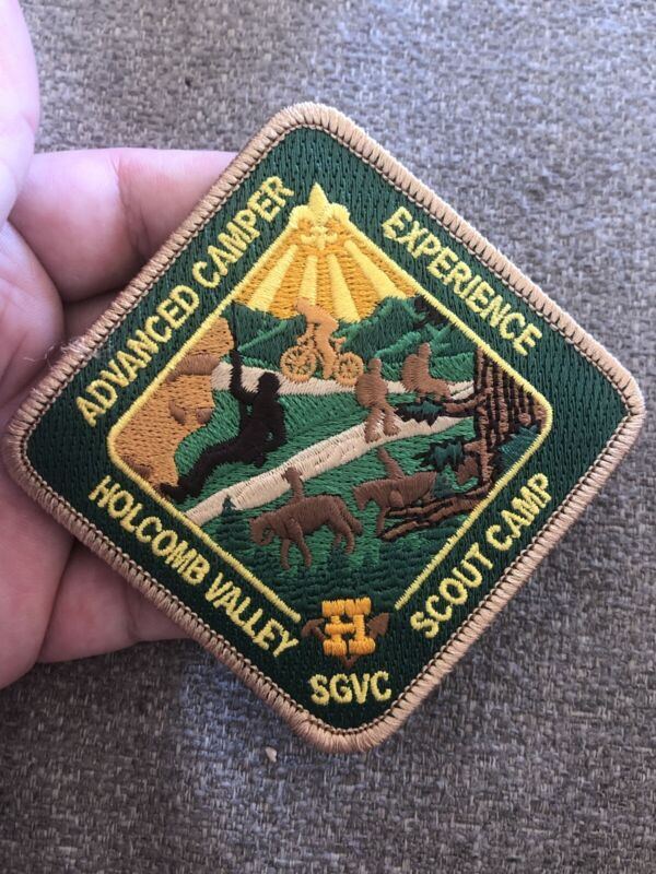 HOLCOMB VALLEY SCOUT RANCH Boy Scouts Patch Advanced Camper Sgvc