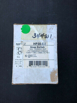 Legrand 30 Amp Snap Switch Hp30-ex For Hazardous Locations 30 Amp 120240v 2hp