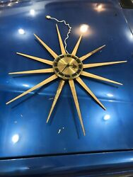 Large 28 VTG Mid Century Modern Sessions Starburst Sunburst Wall Clock