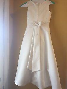 Off White Cream Flower Girl or First Communion Dress sz. 7/8