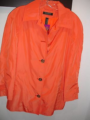 Orange Travel Jacket - Ralph Lauren Travel Women's, Orange Light Button Rain Coat Jacket New SIZE S/P.