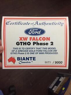 Biante Classic 1:18  Grecian Gold Ford Falcon  XW Falcon GTHO