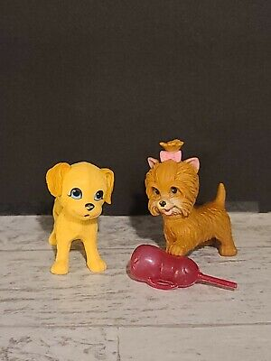 My Pet Pals Chic Figures Dogs Puppies Barbie Doll Pet Lot with Bottle