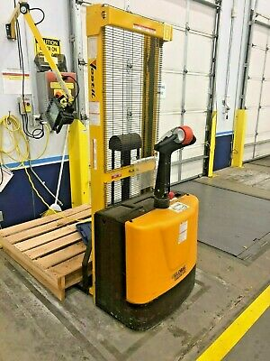 Vestil S-62-ff Fully Powered Stacker Lift Electric 62 Raised 2000 Lbs Capacity