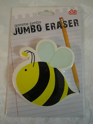 Cute Bumble Bee Jumbo Eraser Paperweight Yellow Black White New