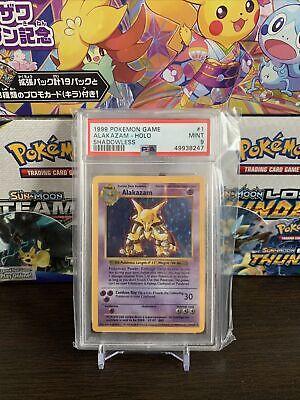 1999 Alakazam Holo Shadowless Base Set Pokemon Card PSA 9 Mint Looks BGS Gem