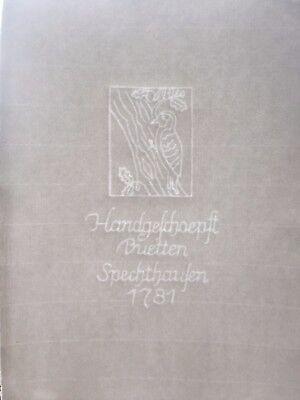 Büttenpapier Handgeschöpft 50 Blatt DIN A4 Specht im Wasserzeichen Spechthausen